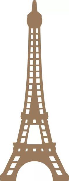 aplique de parede torre eiffel de 80cm em mdf cru