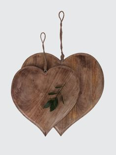 Cox and Cox UK. Wooden hearts
