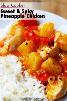 Why order Chinese Take-out when this Slow Cooker Sweet and Spicy Pineapple Chicken is just as good! And putting it together is SO easy!