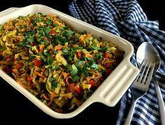 Oksekød med spidskål og karry