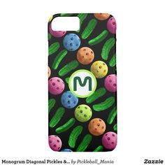 Monogram Diagonal Pickles & Pickleballs Case-Mate iPhone Case