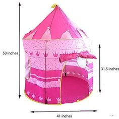 Sure Luxury Girl's Pink Princess Castle Play Tent - Indoor and Outdoor Use Sure Luxury http://www.amazon.com/dp/B00SU4SDG6/ref=cm_sw_r_pi_dp_mCVAwb0N8Q03J