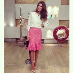 Pink Tweed and White Lace