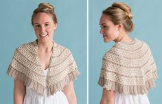 Simple knit (written instructions only, not charted) in Classic Elite Canyon, Ceniza Shawlette free pattern