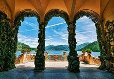 Veranda at the Villa Balbianello at Lake Como (Lago di Como) in Lombardy, Italy. What a fantastic place for a wedding.