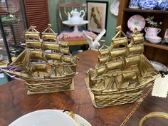 Antiques For Sale, Sailboat, Decorative Accessories, Antique Brass, Bookends, Vintage Items, Fun, Sailing Boat, Sailboats