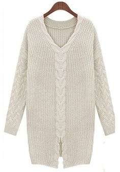 Simple V-Neck Sweater