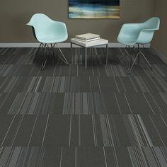 Mannington Commercial, Modular Carpet, Series: Elemental Neutrals II, Color: Xenon #15092, Available 8 Colors