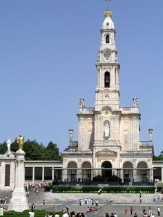 This church is HUGE. Amazing to see in person. Fatima Basilica, Portugal