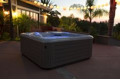 The perfect spot to gather for a #backyard party. Gather with friends and family in this Hot Spring Vanguard.