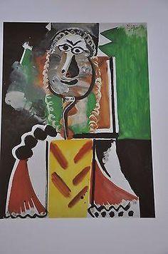 "unframed Pablo Picasso Signed//Hand-Numbrd Ltd Ed /""Bullfighter II /"" Litho Print"