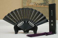 NEW Tessen Japanese Iron fan Samurai weapon 24cm black from Japan F//S