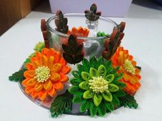 Buy Handmade Quilling Design Glass Candle Holder_ Home Décor-MMDWBQ