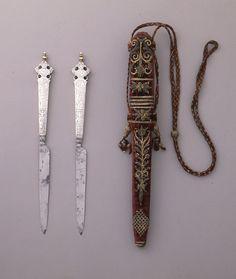KNIFE (NETHERLANDS), CA. 1618 silver, steel, gilding. Bequest of Richard Cranch Greenleaf in memory of his mother, Adeline Emma Greenleaf. 1962-58-11-a.