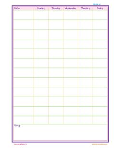 {Free} Homeschool Weekly Planner Page from HomeschoolinMama.com