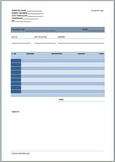Medical bill format medical invoice template pinterest medical free medical invoice template maxwellsz