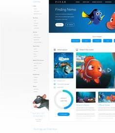 Hello Behancers!Today we are proud to show you the redesign of the best animation studios of the world. Located in Emeryville, California, Pixar Animation Studios has created acclaimed animated feature and short films for over 25 years. Pixar is also ho…