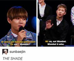 Dang Rap Mon, just shooting Taehyung down like that. No one can diss like BTS can diss lol