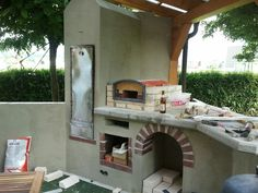 wood fired outdoor brick pizza oven by the hillman family beams pinterest pizzaofen und. Black Bedroom Furniture Sets. Home Design Ideas