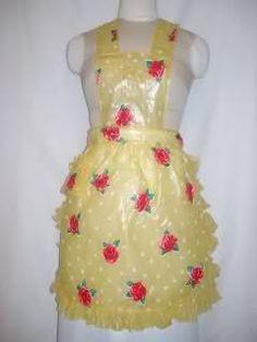 Plastic Bibs, Plastic Aprons, Pvc Apron, Apron Dress, Aprons Vintage, Vintage Tablecloths, Latex Babe, Sewing Aprons, Linens And Lace