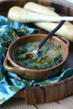 Creamy Parsnip Soup from @Alice Cartee Maven