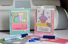 Cards are so easy to make with a Cricut!  So adorable!!