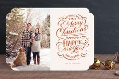 Minted Holiday Card #1 by Jill De Haan, via Behance