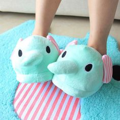 Buy Fashion Mint Color Cute Circus Elephant Slippers at Wish - Shopping Made Fun Mint Blue, Mint Color, Visual Kei, Creepy, Grunge, Cute Slippers, Slipper Boots, Punk, Birthday Wishlist