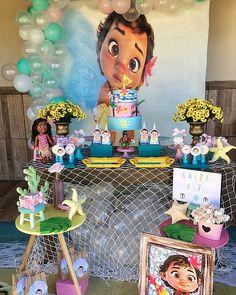 Moana Birthday Decorations, Moana Birthday Party Theme, Moana Decorations, Moana Themed Party, Moana Party, 1st Birthday Parties, 17th Birthday, Birthday Diy, Birthday Cake