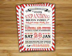 Circus baby shower invitation Carnival baby shower boy girl invite