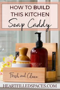 DIY Scrap Wood Kitchen Soap CaddyDIY Kitchen Soap Caddy | Diy kitchen soap Diy projects Diy Diy Kitchen Soap, Woodworking Projects, Diy Projects, Ikea, Hacks, Wood Working For Beginners, Affordable Home Decor, Do It Yourself Home, Diy On A Budget