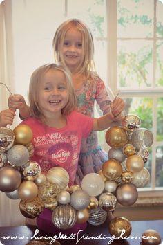 DiY Ornament Wreath   How to make an Ornament Wreath Handmade Holidays