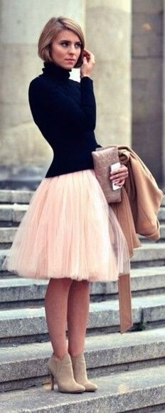 nice Jupon en tulle : How to trend the ballerina style Look Fashion, Fashion Beauty, Autumn Fashion, Romantic Style Fashion, Skirt Fashion, Latest Fashion, Street Fashion, Fashion Dresses, Net Fashion