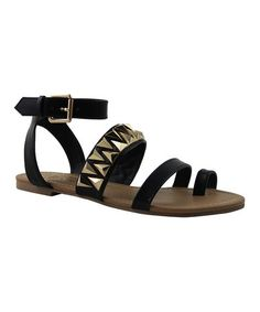 This Black Stud Daron Ankle-Strap Sandal by Celebrity NYC is perfect! #zulilyfinds