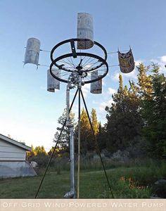 Off Grid Wind-Powered Water Pump