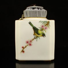 Chinese Gilt Gold Famille Rose Porcelain Tea Caddy
