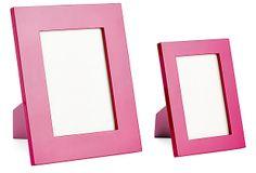 Bright Pink Lacquer Frames, Asst. of 2 on OneKingsLane.com