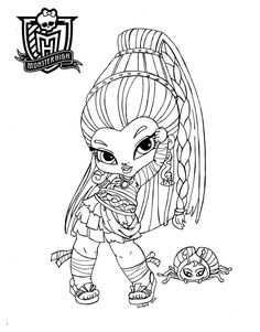 Baby Monster High Coloring Pages | Monster High Doll Skelita ...