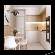 • km 1621  #modern #kitchen _______________  follow us : @zafar.kitche... #kitchen #modern Simple Kitchen Design, Kitchen Room Design, Home Decor Kitchen, Interior Design Kitchen, Kitchen Design Minimalist, Small Apartment Interior Design, Minimalist Kitchen Inspiration, Small Kitchen Inspiration, Very Small Kitchen Design