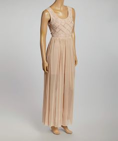 Look at this #zulilyfind! Blush Pink Beatrice Maxi Dress #zulilyfinds