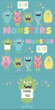 Pastel Colour Palette, Pastel Colors, Funny Monsters, Cute Stationary, Monster Design, Im Happy, Birthday Party Invitations, Hello Kitty, Clip Art