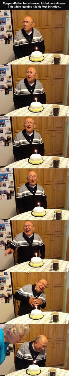 Realizing it's his 70th birthday…this makes my heart so happy.