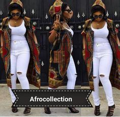 African/ethnic /dashiki unisex hoodie coat by AFROCOLLECTION2015