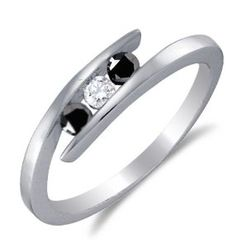 Size 8 – .925 Sterling Silver Plated in White Gold Rhodium White and Black Diamond Cross Over Engagement  (1/4 cttw) by Sonia Jewels - See more at: http://blackdiamondgemstone.com/colored-diamonds/jewelry/size-8-925-sterling-silver-plated-in-white-gold-rhodium-white-and-black-diamond-cross-over-engagement-or-fashion-right-hand-ring-band-3-three-stone-center-setting-shape-w-channel-set-round-diamonds-14/#sthash.umZpMOCf.dpuf