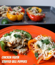 Chicken Fajita Stuffed Bell Peppers. SmileSandwich.com par boils her peppers first, I am going to pre-steam in microwave to save time/effort.