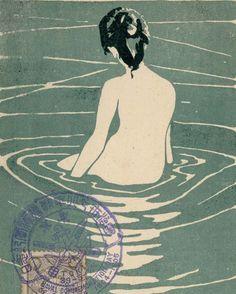 Splish  裸婦 1906 Ichijô Narumi from mfa.org via the #thisisnthappiness archive