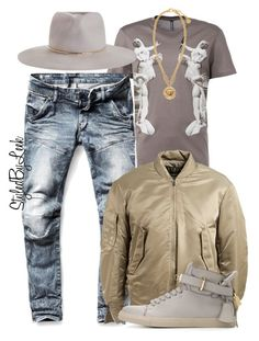 """""""Untitled #749"""" by stylebywho ❤ liked on Polyvore featuring G-Star Raw, adidas Originals, Zimmermann, BUSCEMI, Versace, women's clothing, women, female, woman and misses"""