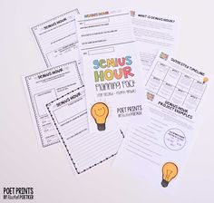Genius Hour Planning Pack - Poet Prints by Rachel Poetker