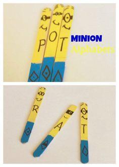 Minion alphabet stic