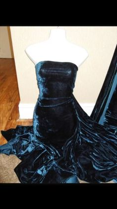 "1 MTR TEAL VELVET/VELOUR FABRIC...58"" WIDE"